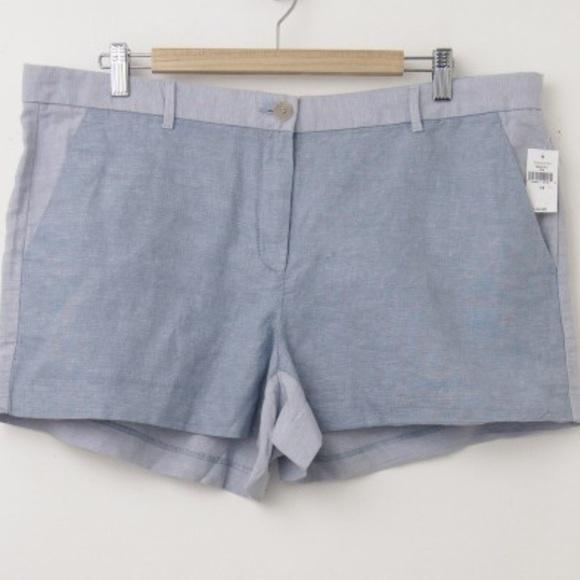 GAP Pants - GAP Linen Tonal Colorblock Shorts EUC 🛍 Size 12